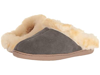Minnetonka Sheepskin Mule (Grey Suede) Women