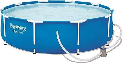 Bestway Steel Pro Frame Zwembad, rond, 305 x 76 cm, stalen frame, set met filterpomp, blauw