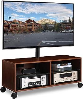 comprar comparacion RFIVER Soporte TV con Ruedas para televisiones de 32 a 65 Pulgadas Giratorio y Altura Ajustable de Color Nogal TW5002