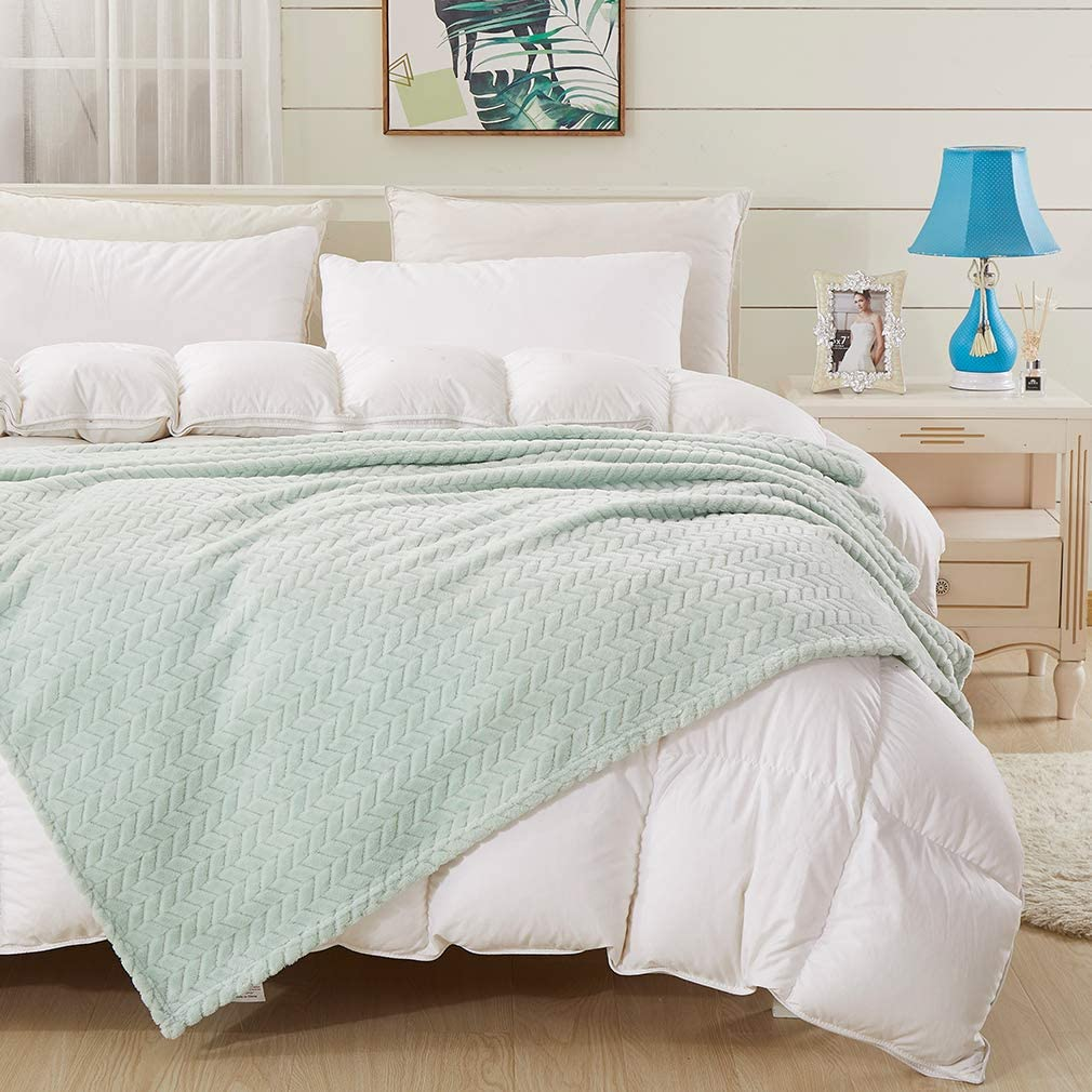 Throw Boston Mall Blanket Mint 5 ☆ popular 60×80'' Green