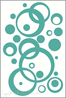 Turquoise Wall Vinyl Sticker Decal Circles, Bubbles, Dots 25+ Pc