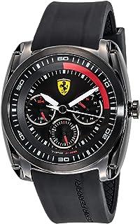 Ferrari Scuderia Men's Black Dial Silicone Band Watch - 830320