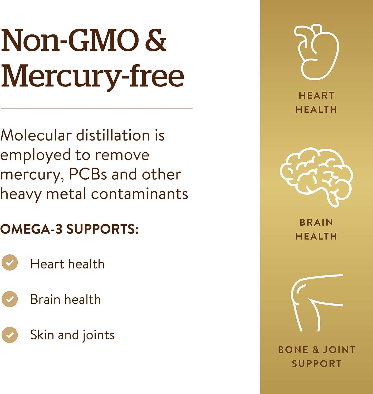 Solgar Wild Alaskan Full Spectrum Omega, 120 Softgels - Supports Heart, Brain, Bone and Skin Health - Provides Vitamin D3 - Rich Source of EPA & DHA - Non GMO, Gluten Free, Dairy Free - 60 Servings