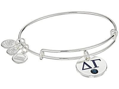 Alex and Ani Color Infusion Delta Gamma II Bangle (Shiny Silver) Bracelet