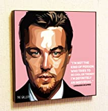 Leonardo DiCaprio Motivational Quotes Wall Decals Pop Art Gifts Portrait Framed Famous Paintings on Acrylic Canvas Poster Prints Artwork Geek Decor Wood (10x10