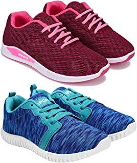 SWIGGY Combo Pack of 2 Sports and Running Shoes for Women