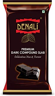 DENALI FOODS PRIVATE LIMITED Dark Chocolate Compound Slab - 18% Cocoa - Cooking Chocolate Bars for Making Chocolates, Cake...