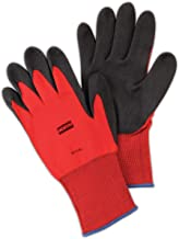North by Honeywell NF11/6XS NorthFlex Red NF11 Foamed PVC Palm Coated Gloves, Medium Weight/Standard, Size 6, Black/Red (P...