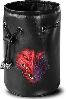 leather d20 dice bag