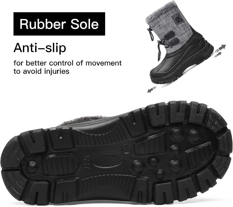 Toddler//Little Kid//Big Kid Kids Snow Boots/Boys /& Girls/Winter/Boots Lightweight Waterproof Cold Weather Outdoor Boots /