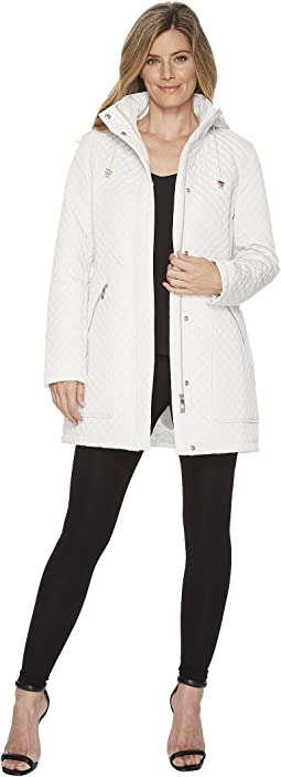 Oversized Pocket Hooded Quilted Coat