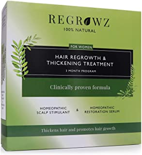 Sponsored Ad - REGROWZ Women's 100% Natural Topical Hair Restoration Treatment for Regrowth, Hair Loss, Thinning, DHT Bloc...