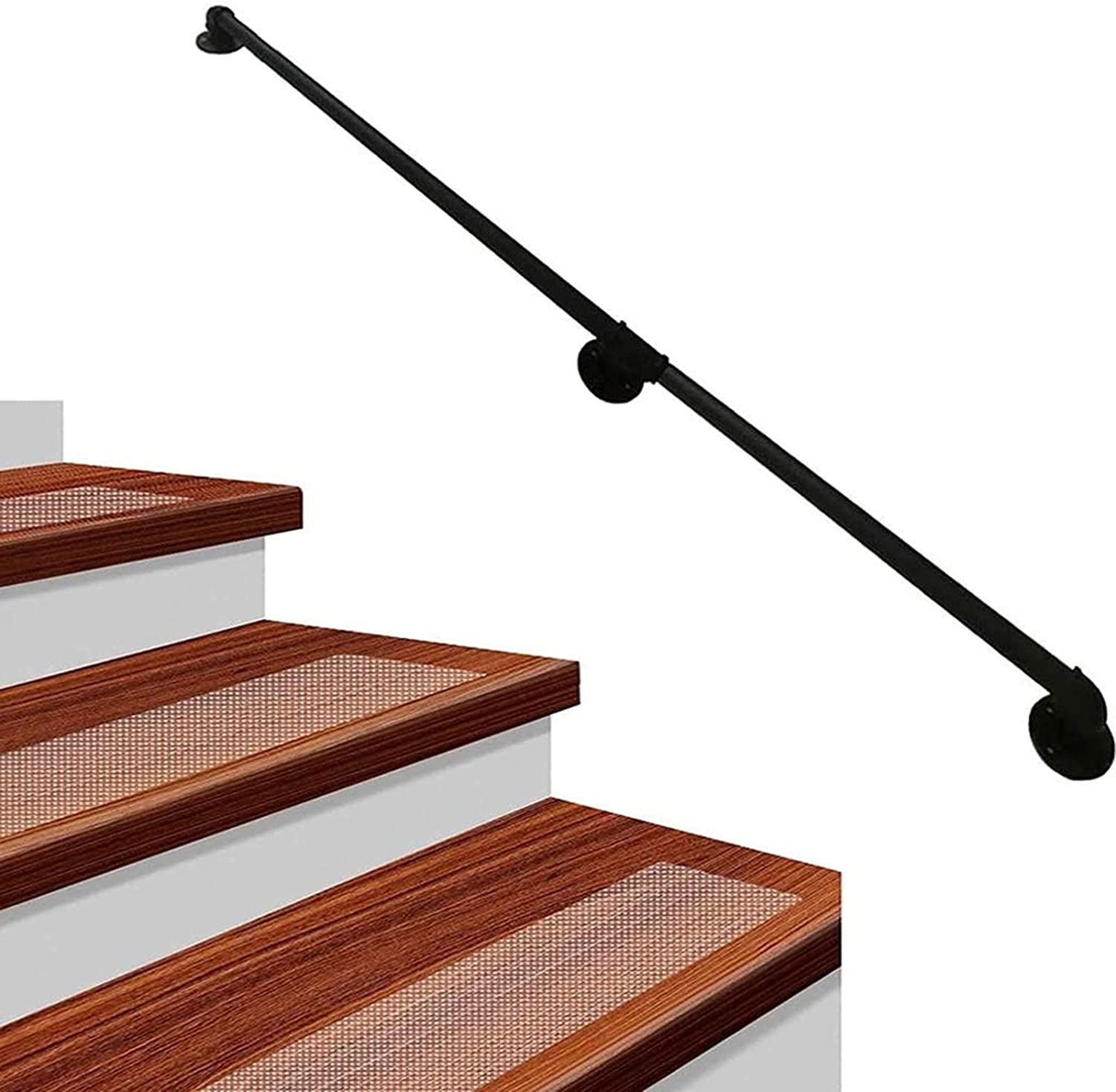 ZCJH Stair Railing Overseas parallel import regular item Professional Pipe Industrial National products Iron Black