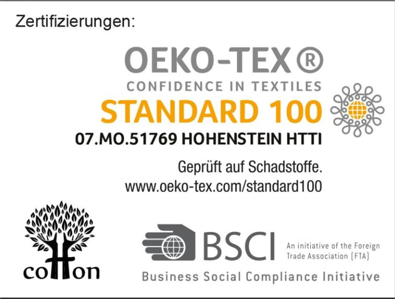 Circle Five Damen Bademantel, Sauna-Mantel, Morgenmatel aus 100% Baumwolle Oeko-Tex 100 [Gr. XS-4XL] Grau/Schwarz