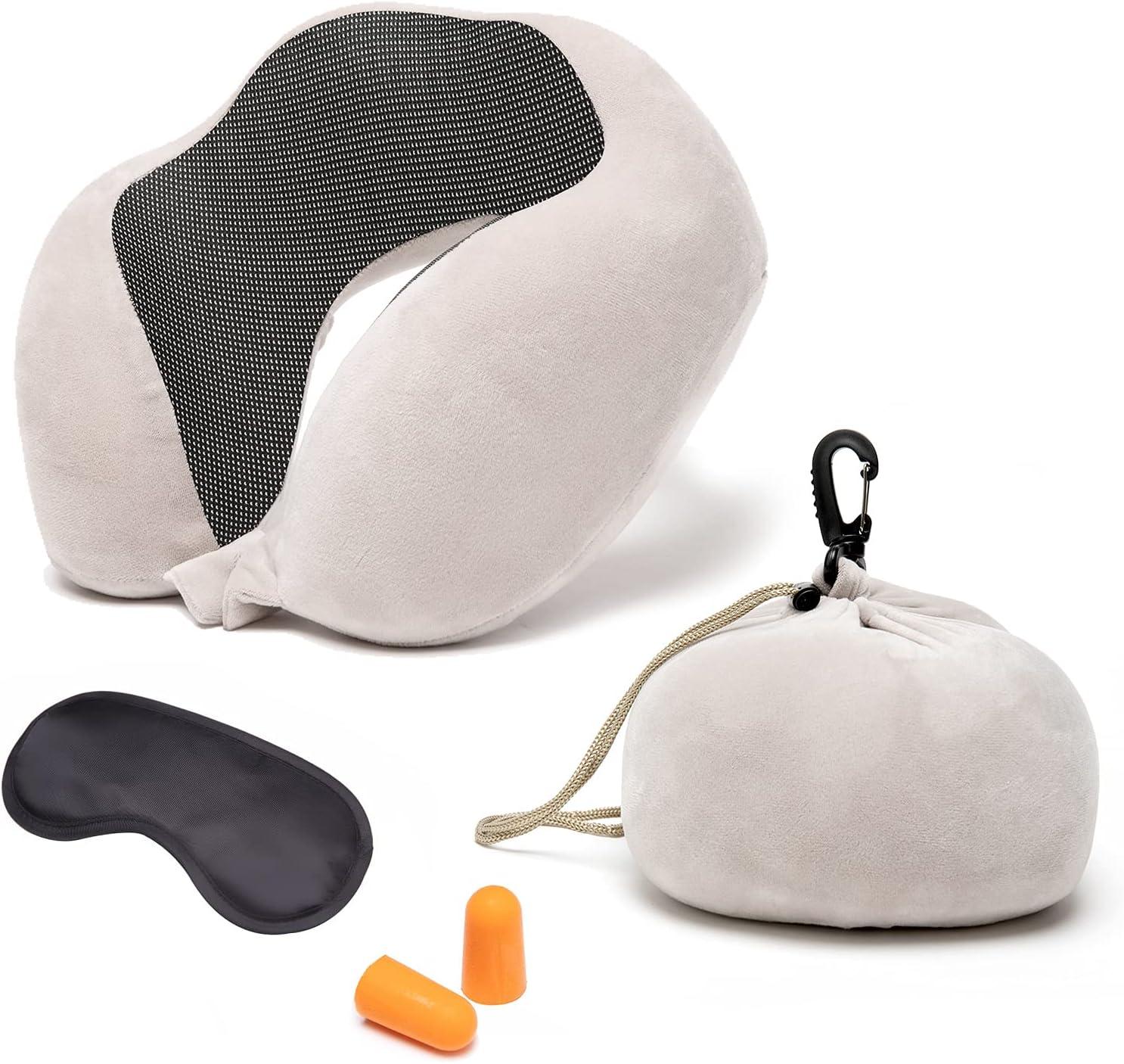 Lieyimnpilow Save money Travel Pillow Max 83% OFF Memory Foam Pillo Neck Support Head