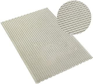 Manoch Titanium Metal Grade Mesh Perforated Diamond Holes Expanded 300x200x0.5mm Titanium Mesh Levels: Aerospace, Shipbuilding, Chemical Machinery, High-Temperature Vacuum Equipment, Power US Stock