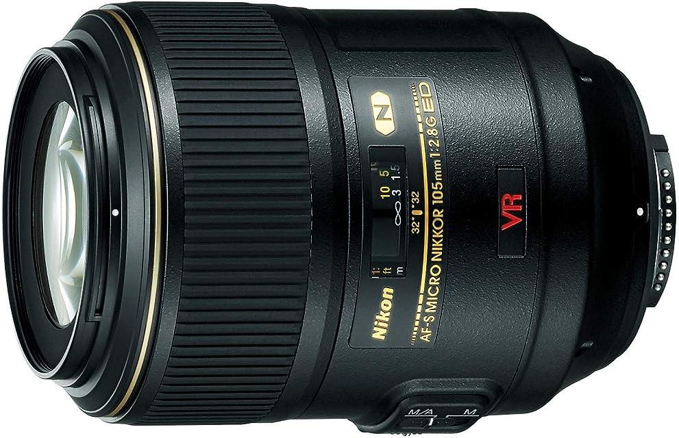 Nikon AF-S VR Micro-Nikkor 105mm f/2.8G IF-ED - Objetivo con montura para Nikon (distancia focal fija 105mm apertura f/2.8 estabilizador de imagen)