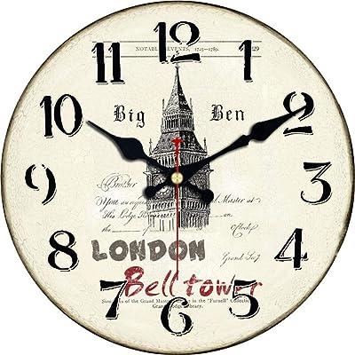 Horloge Murale Foxom 3040cm Horloge Pendule Murale Rétro