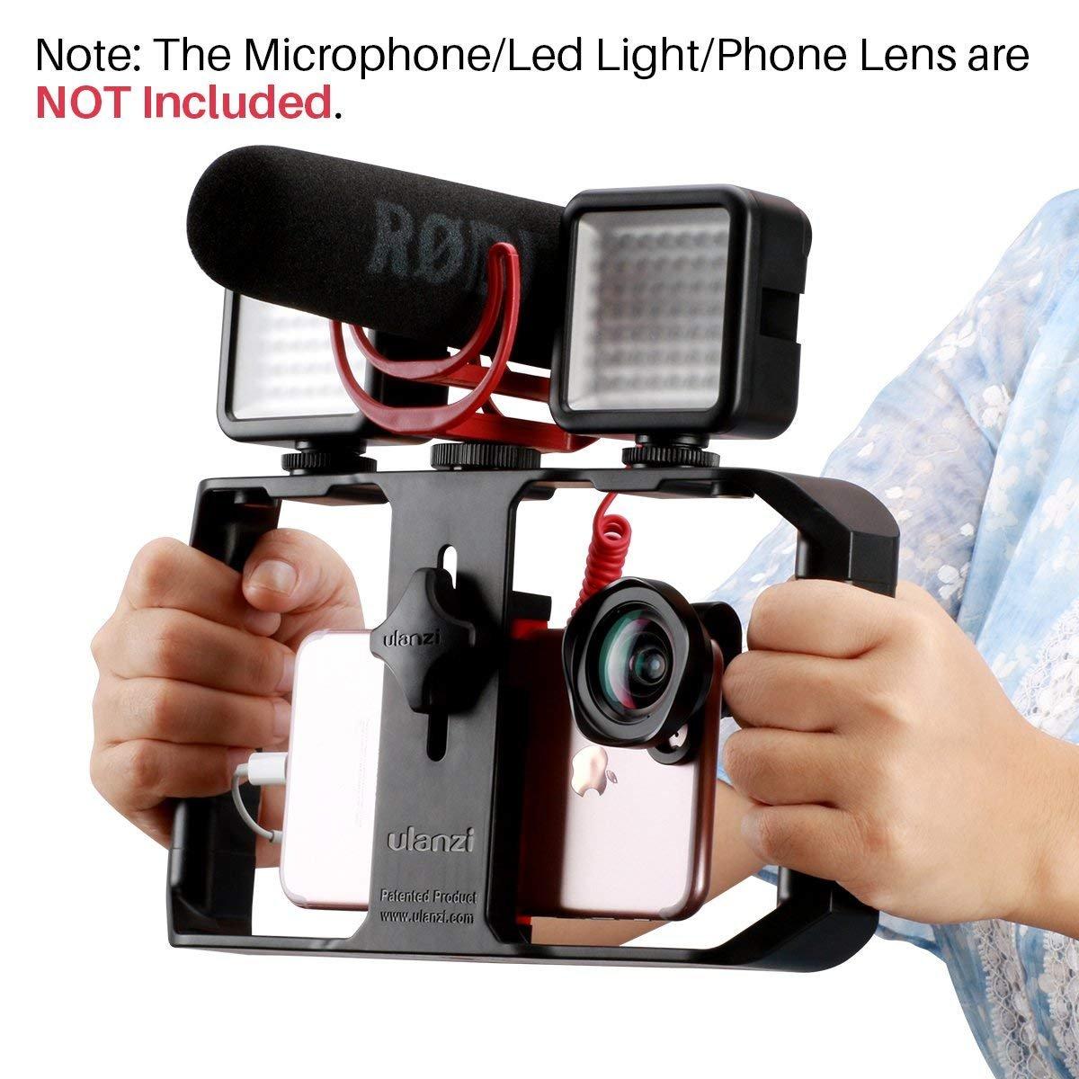 ULANZI U Rig Pro Smartphone Video Rig, Filmmaking Case, Phone Video Stabilizer Grip Stativ Soporte para Videomaker Film-Maker Videographer para iPhone XS XS MAX XR iPhone X 8 Plus Samsung: Amazon.es: Electrónica