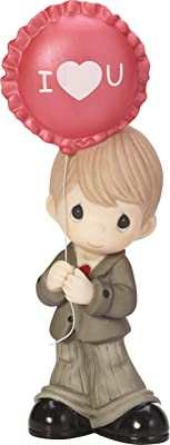 Precious Moments You Make My Heart Smile Boy With Balloon Bisque Porcelain Figurine 182015