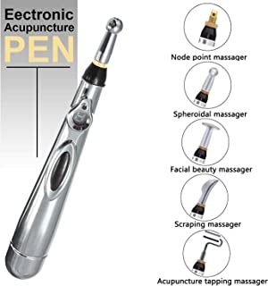 5-in-1 Acupuncture Pen Energy Acupuncture Pen with 5 Massage Head Electronic Meridians Laser Acupuncture Massager Relief Pain Tools