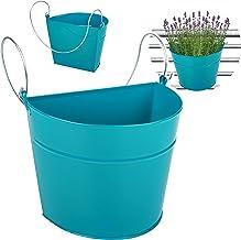 alles-meine.de GmbH 3 stuks _ hangende - potten / bloempotten / hangpotten _ kleurkeuze _ Ø 22 cm - metaal - turquoise bla...