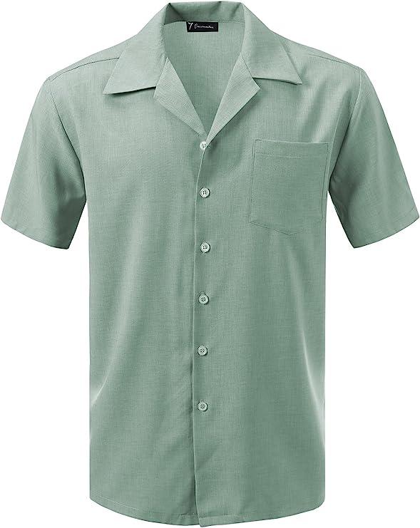 Men's Vintage Clothing | Retro Clothing for Men 7 Encounter Mens Camp Dress Shirt  AT vintagedancer.com