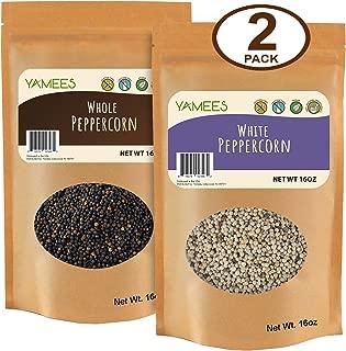 Peppercorns – Black Peppercorns - Whole White Peppercorns - Bulk Spices - 2 Pack of 16 Ounce Each