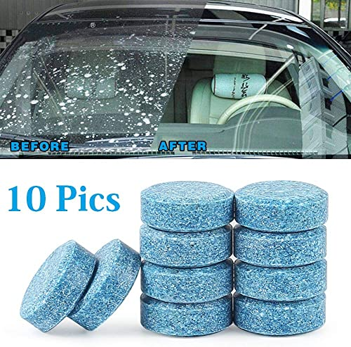 HSR 10PCS/1Set Car Wiper Detergent Effervescent Tablets Washer Auto Windshield Cleaner Glass Wash Cleaning Compact Co...