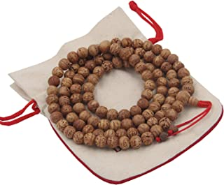 DharmaObjects Tibetan Buddhist Meditation Genuine Bodhiseed Mala Prayer Rosary 108 Beads