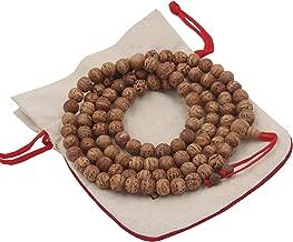 DharmaObjects Tibetan Buddhist Meditation Genuine Bodhiseed Mala Prayer Rosary 108 Beads