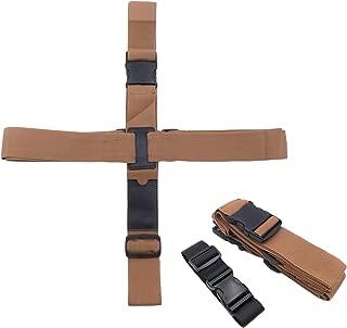 Kalevel Travel Luggage Strap Luggage Belt with Add A Bag Belt Black Set Travel Suitcase Straps Adjustable (Brown)