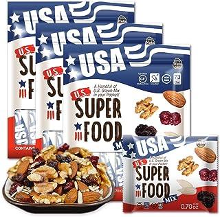 ミックスナッツ US SUPERFOOD USスーパーフード 20g x 10袋 x 3個(30袋-1ヶ月分)アメリカ直輸入(素焼き アーモンド・素焼き ひまわりの種・くるみ・レーズン・クランベリー)便利な小分けタイプ