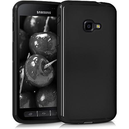kwmobile Carcasa Compatible con Samsung Galaxy Xcover 4 / 4S - Funda móvil de Silicona - Protector de TPU en Negro Mate