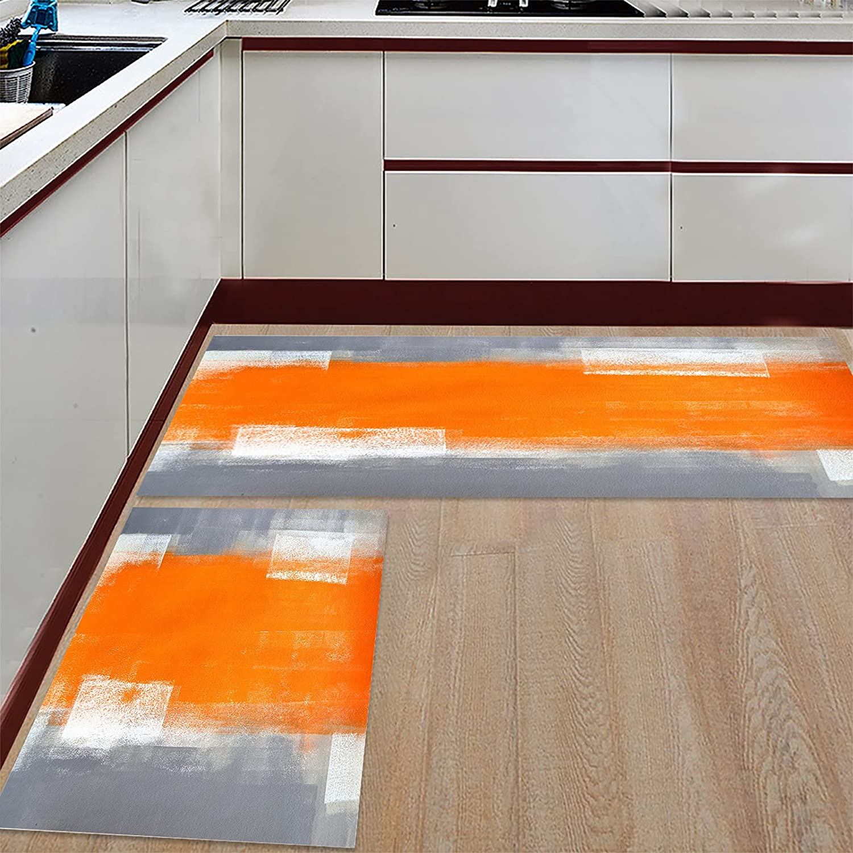 Womenfocus Kitchen Mat Set OFFicial site Anti-WearNon-Slip 2 Year-end gift Rug Pi Floor