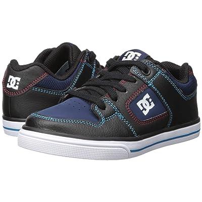 DC Kids Pure (Little Kid/Big Kid) (Black/Blue/Red) Boys Shoes