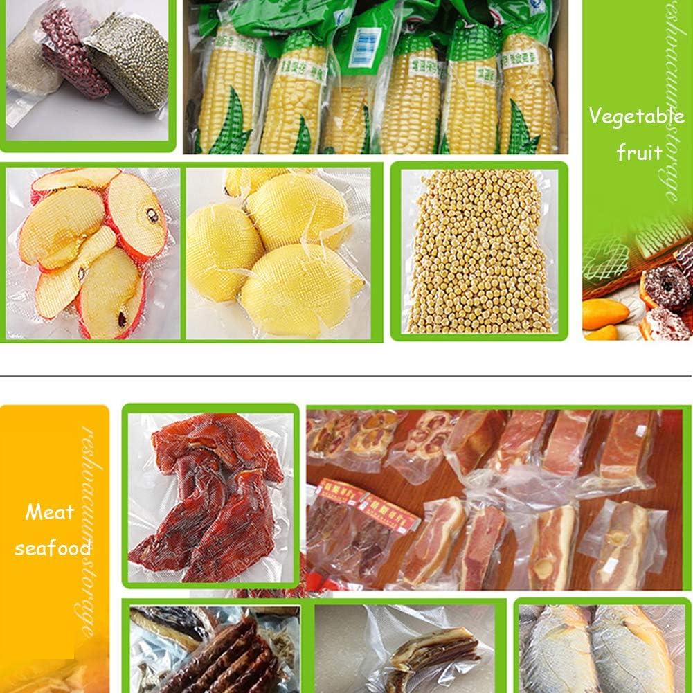 Vacuümverpakker, vacuümverpakking, machine, eten droog en vocht, automatische sluiting voor privé- en commercieel gebruik, met 10 zakjes wit wit