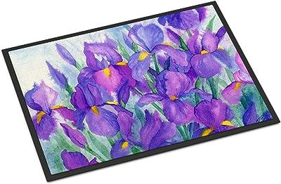 """Caroline's Treasures IBD0256MAT Purple Iris Indoor or Outdoor Mat, 18"""" x 27"""", Multicolor"""