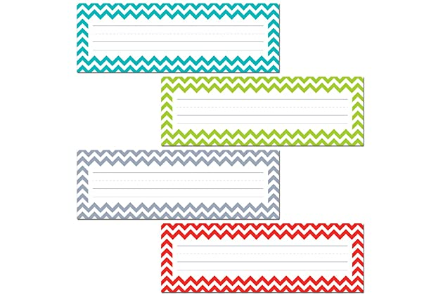Creative Teaching Press Chevron Solids Name Plates 4517