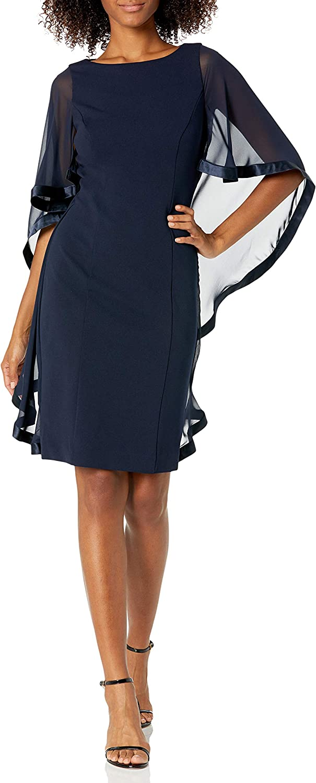 Jessica Howard Womens One Piece Sleeveless Trapeze Dress