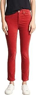 Rag and Bone Women's High Rise Velvet Skinny Jeans Red