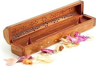 Wooden Coffin Incense Burner-two Tone Divine