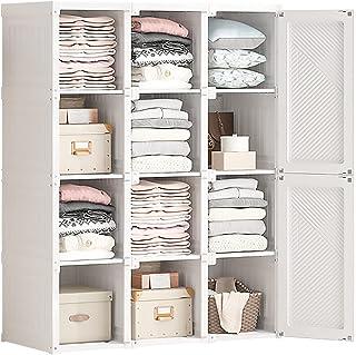 Placard Portable pour Pliable, Armoire Combinée, Placard De Garde-Robe, Rangement en Cube De Profondeur, Organisateur De R...