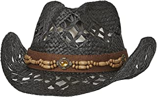 Port Classic Straw Vented Shapeable Country Cowboy Hat w/Bead Band