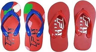 Fly Relex Kid's EVA Flip-Flops and House Slippers (Combo of 2)