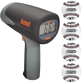 Bushnell Velocity Speed Gun Pitcher's Training Bundle with 4 Rawlings Regulation Baseballs