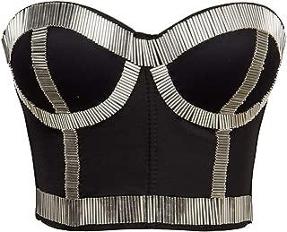 Alivila.Y Fashion Womens Rhinestone Punk Goth Bra Clubwear Corset Top