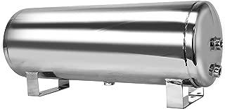 Mototeks, Inc. 5 Gallon Chrome Steel AIR Tank with 4 Ports + Drain Port for AIR Suspension AIR Ride AIR Horn AIR Bags (Chrome)