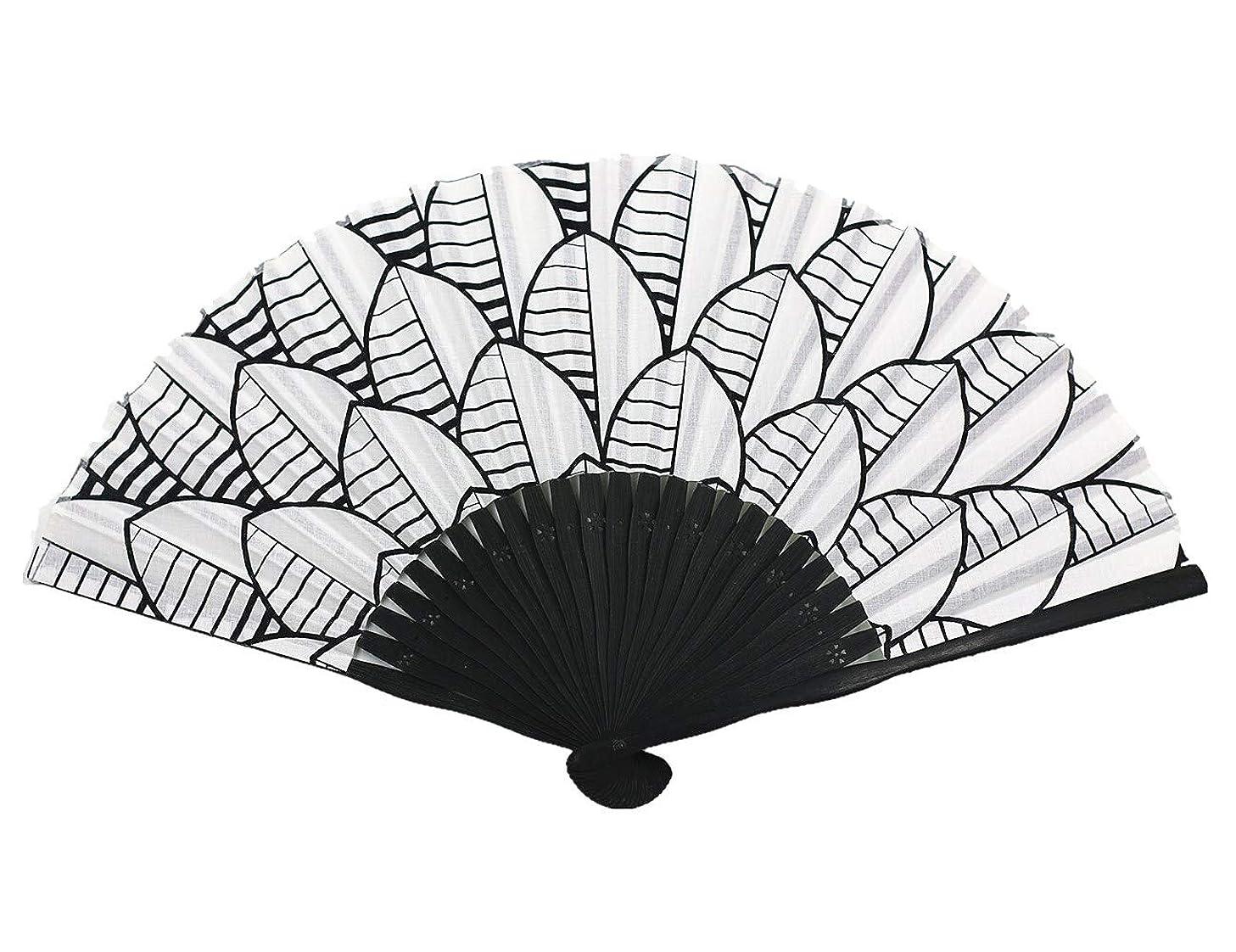 Wise Bird Hand Fan Woman Lady Handmade Bamboo Silk 8