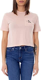 Calvin Klein Jeans Women's Monogram Logo Off Placement Cropped Tee